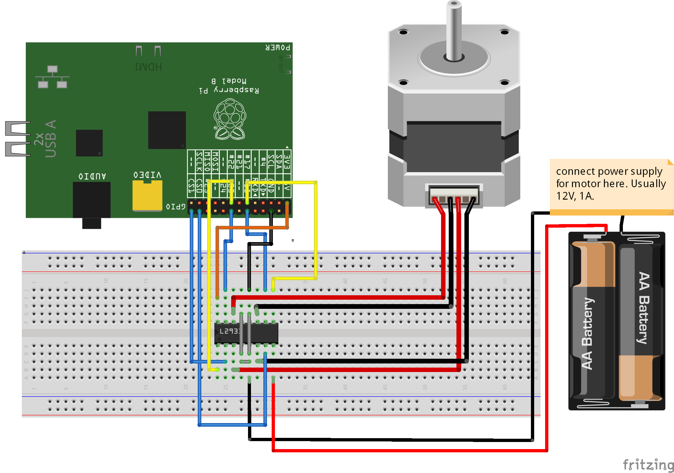 Scratchclient Circuit Using A Photointerrupter Electrical Engineering Stack Bipolar Stepper With L293d Chip